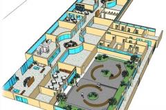 Nova Área de Convivência - Visualização da Área do Shopping Ligada a Portaria B, Praça, Restaurante, Corredor Central do Raio X e Hall Central